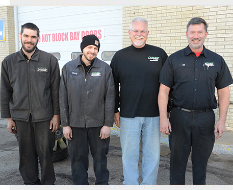 auto mechanic with a customer